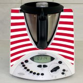 Stickers Thermomix TM31  Rayé rouge 3