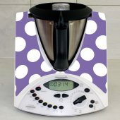Stickers Thermomix TM31 Violet à pois