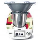 Stickers Thermomix TM5 Carré abstrait
