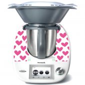 Stickers Thermomix TM5 Coeurs en folies 2