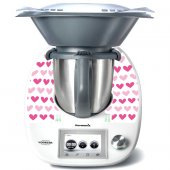 Stickers Thermomix TM5 Coeurs en folies 3