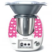 Stickers Thermomix TM5 Coeurs roses