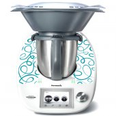Stickers Thermomix TM5  Liseret bleu