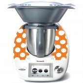 Stickers Thermomix TM5 Orange à pois
