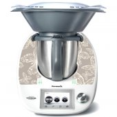 Stickers Thermomix TM5 Papillons beige