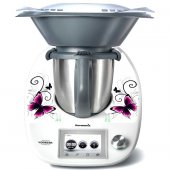 Stickers Thermomix TM 5 papillons white