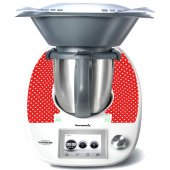 Stickers Thermomix TM 5 Petits pois red