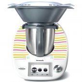 Stickers Thermomix TM5 Rayé multicolor 2