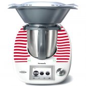 Stickers Thermomix TM5 Rayé rouge 3