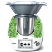 Stickers Thermomix TM5 Rond design vert