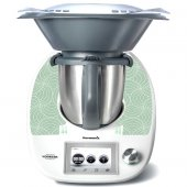 Stickers Thermomix TM5 Rond design vert pomme