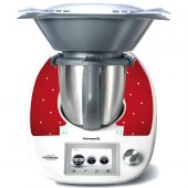 Stickers Thermomix TM5 Rouge a poins