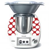 Stickers Thermomix TM5 Rouge à pois 3
