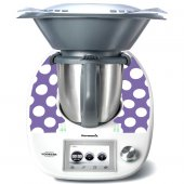 Stickers Thermomix TM5 Violet à pois