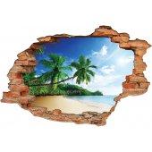 Stickers Trompe l'oeil 3D paradise
