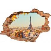 Stickers Trompe l'oeil 3D Paris