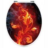 Stickers WC Fleur Graphique