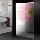 Transparentna Naklejka na Kabiny Prysznicowe Kolor - Kwiat
