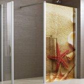 Transparentna Naklejka na Kabiny Prysznicowe Kolor - Motyw Morski