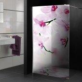 Transparentna Naklejka na Kabiny Prysznicowe Kolor - Orchidea