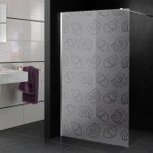 Transparentna Naklejka na Kabiny Prysznicowe - Muszelki