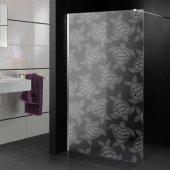 Transparentna Naklejka na Kabiny Prysznicowe - Żółw