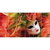 Venetian Mask - Tiles Wall Stickers