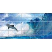 vinilo azulejos delfín