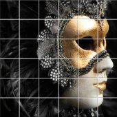 vinilo azulejos máscara de Venecia