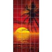 vinilo azulejos puesta del sol