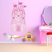 Vinilo infantil Princesa carro