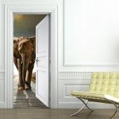 Vinilo para Puerta Elefante