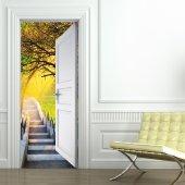 Vinilo para Puerta escalera