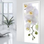 Vinilo para Puerta orquídea