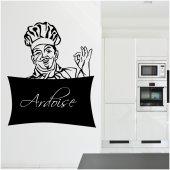 Vinilo Pizarra chef cocinero