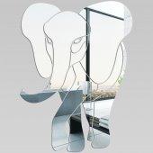 Wandspiegel aus Acrylglas Elefant