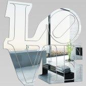 Wandspiegel aus Acrylglas Liebe