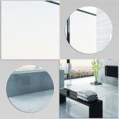 Wandspiegel aus Acrylglas quadratische Kreise