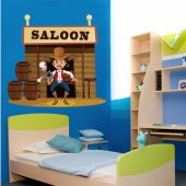 Wandsticker Saloon
