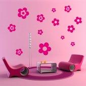 Wandtattoo Blumen Set