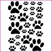 Wandtattoo Katzenpfoten Set