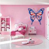 Wandtattoo Schmetterling USA