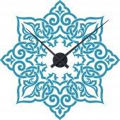 Wandtattoo-Uhr Orient