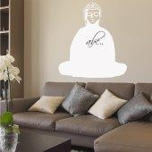 Wandtattoo Velleda weisse Tafel Buddha