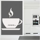Wandtattoo Velleda weisse Tafel Kaffeetasse