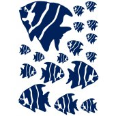 Kit 17 Stickers Poisson