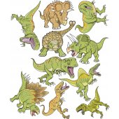 kit Stickers 10 dinosaures