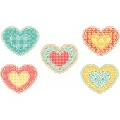 Kit Stickers 5 coeurs
