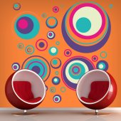Autocollant Stickers mural ado kit cercles