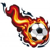 Stickers ballon de foot en feu